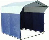 Палатка торговая, разборная «Домик» 2.0 х 2.0 К бело-синяя