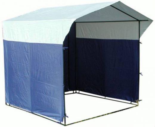 Палатка торговая 2.0 х 2.0, разборная «Домик» бело-синяя