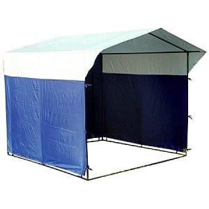 Палатка торговая 2,5 х 2,0, разборная «Домик», бело-синяя