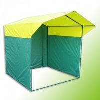 Палатка торговая 3х2, разборная «Домик», желто-зеленая, из квадратной трубы