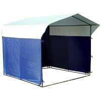 Палатка торговая 3х2, разборная «Домик», бело-синяя, из квадратной трубы