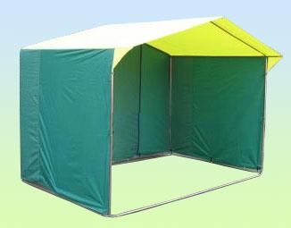 Палатка торговая 3х2, разборная «Домик», желто-зеленая (Россия)