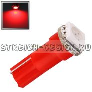 Светодиодная лампа T5 1SMD 5050 красная 12V