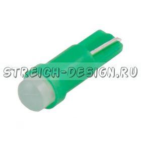 Светодиодная лампа T5 COB зеленая 12V
