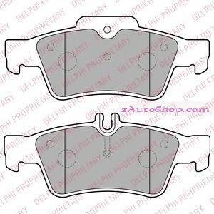 Накладка дискового тормоза: W 211 / 212 / 220 / 221 задние