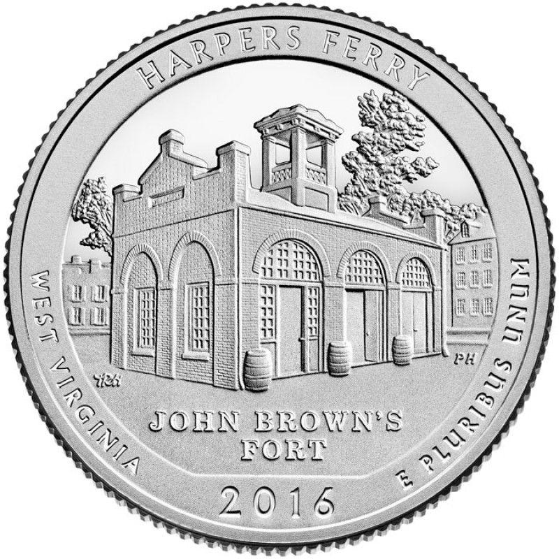 """25 центов 33-й парк """"Харперс Ферри (Harpers Ferry)"""""""