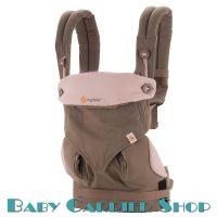 """Слинг-рюкзак ERGO BABY CARRIER Эргорюкзак для переноски малышей «Taupe&Lilac Four Position 360» [Эрго Беби BC360ATAU слингорюкзак """"лицом к миру"""" 360-Какао]"""