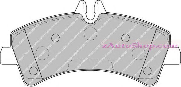 Накладка дискового тормоза: W 906 задние
