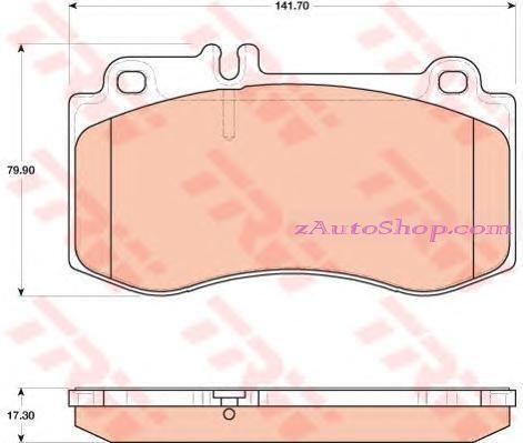 Накладка дискового тормоза: W 212 передние  E500