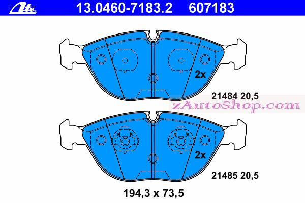 Накладка дискового тормоза: W 202-208-210 передние AMG