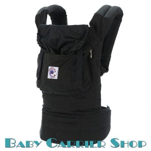 Слинг-рюкзак ERGO BABY CARRIER Эргорюкзак для переноски малышей «Black Organic» [Эрго Беби BCO00101 слингорюкзак Черный]