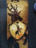 """Схема - закладка для вышивки крестом """"Дом Баратеонов"""". Отшив."""
