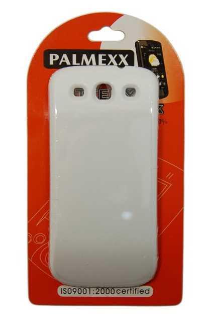 Аккумулятор повышенной емкости для Samsung i9300 Galaxy S3 (4600mAh) белый