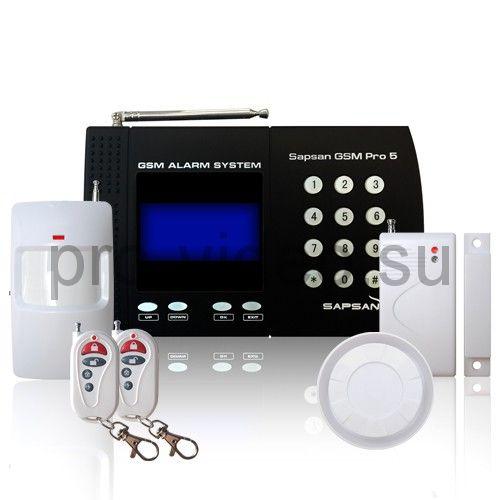 """Sapsan GSM Pro 5T """"Универсал"""" Комплект беспроводной gsm сигнализации для дачи и дома"""