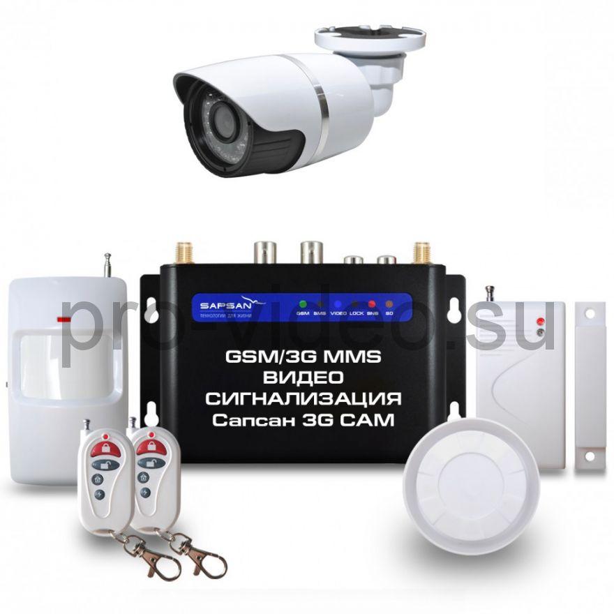 GSM сигнализация Sapsan GSM MMS 3G CAM с датчиками, 1 уличной в/камерой, функцией Видеозвонок
