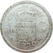 Индия 1/10 гульдена 1920 г.