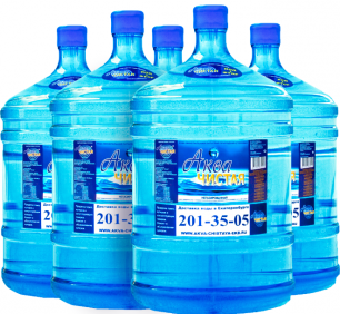 "Вода ""Аква чистая"" 5 бутылей по 19л."