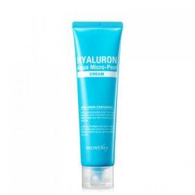 SECRET KEY HYALURON AQUA MICRO-PEEL CREAM 70g - гиалуроновый крем для увлажнения и омоложения кожи