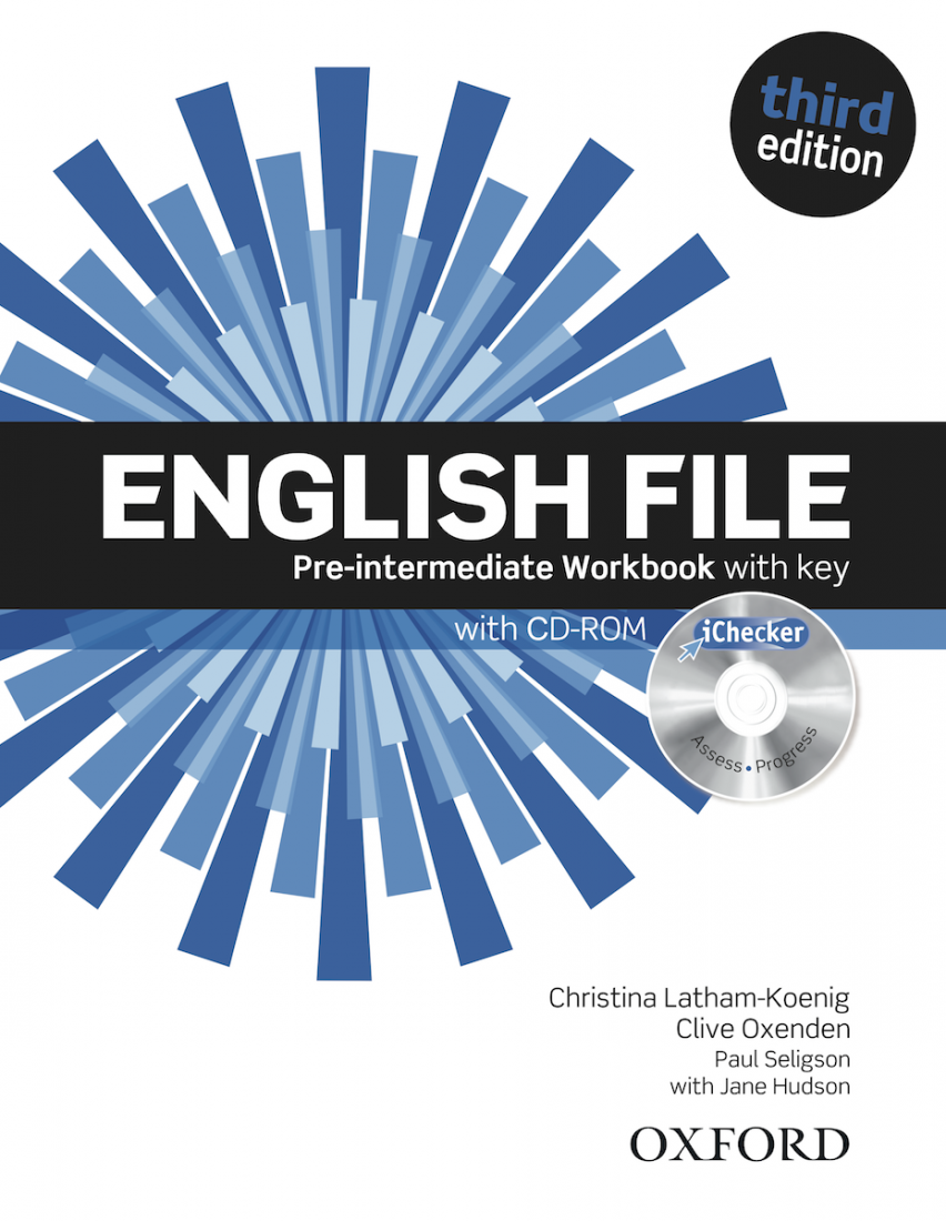 English File 3rd Pre-intermediate Workbook with key and iChecker