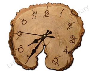 Часы из торцевого среза ольхи CO-001