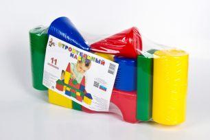 Строительный  набор из 11 элементов, пластмасса