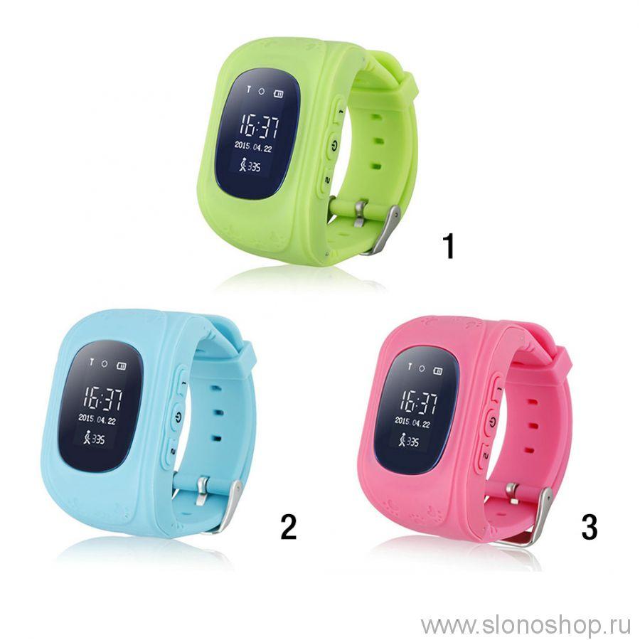 Детские умные смарт часы телефон с GPS маячком и прослушкой q50