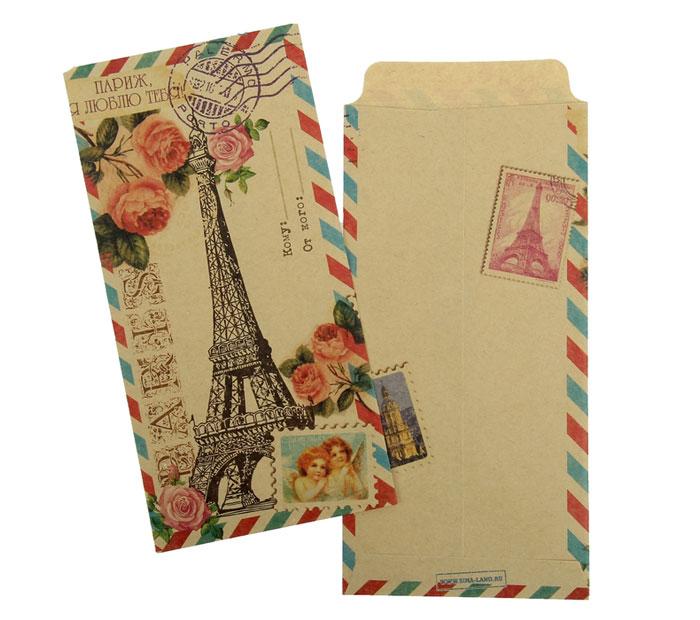 Крафт конверт Париж