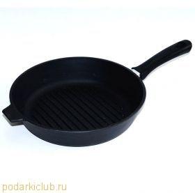 Сковорода чугунная Добрыня DO-3314  24 см. (код 34)