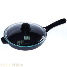 Сковорода с крышкой чугунная Добрыня DO-3313 (22 см) (код 33)