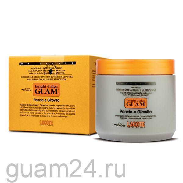 GUAM Маска антицеллюлитная для живота и талии Fanghi D'alga , 500 гр. код (0639), 1000 г код (0646)