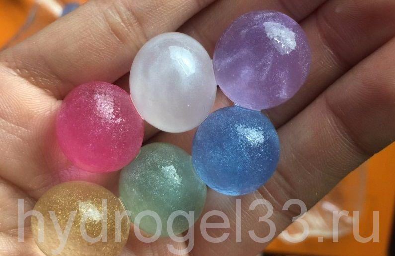 Гидрогель с блеском  1,5  см (170 шт)