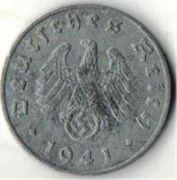1 рейхспфенниг. 1941 год. J. Германия.