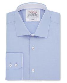 Мужская рубашка светло-синяя T.M.Lewin приталенная Slim Fit (55010)