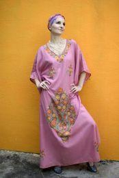 Розовое платье из натурального хлопка (Москва)