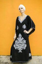 Чёрное платье из натурального хлопка (Москва)