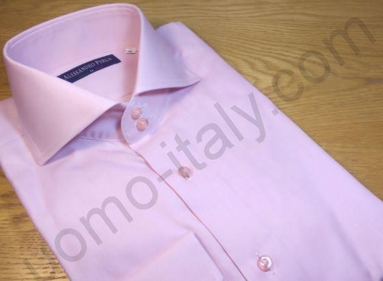 Мужская рубашка Alessandro Perla розовая шелковистая (последний размер 38)(арт.0387)