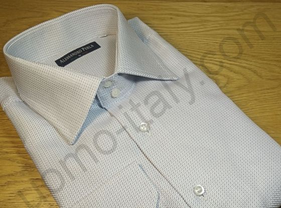 Рубашка мужская серая двойного плетения (последний размер 48) арт.King W391