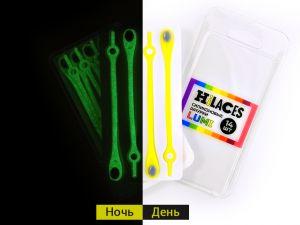 Светящиеся шнурки Желтый/Серый