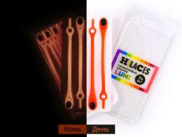Светящиеся шнурки Оранжевый/Черный