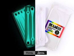 Светящиеся шнурки Прозрачный/Белый
