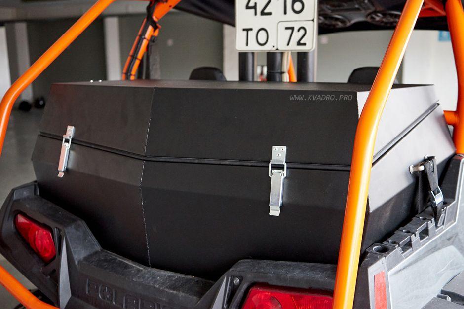 Герметичный жёсткий кофр для POLARIS RZR S 800 (Не окрашенный)