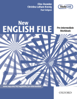 New English File Pre-intermediate Workbook with Key and MultiROM Pack