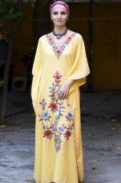 Желтое платье из натурального хлопка (под заказ)