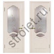 Двери межкомнатные Венеция дуб беленый пвх