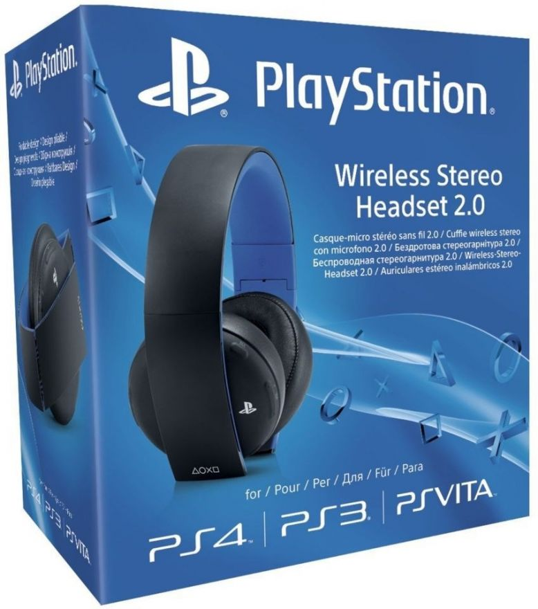Беспроводные наушники Sony Gold Wireless Stereo Headset 2.0 Черные PS4/PS3/PS Vita