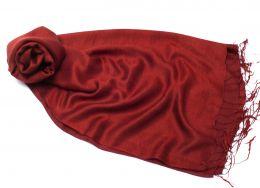 Шёлковый палантин Бургунди, шелк + шерсть (под заказ)