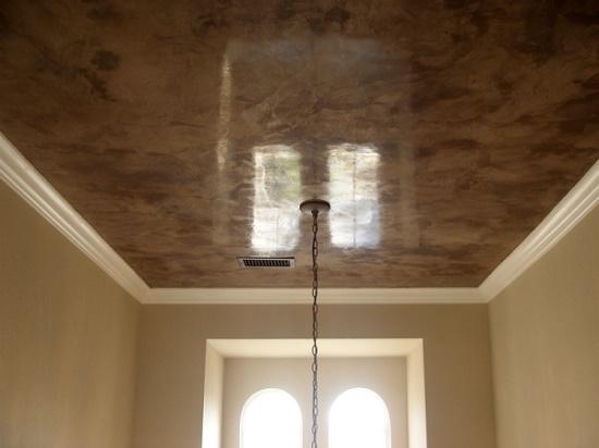 Мраморный натяжной потолок