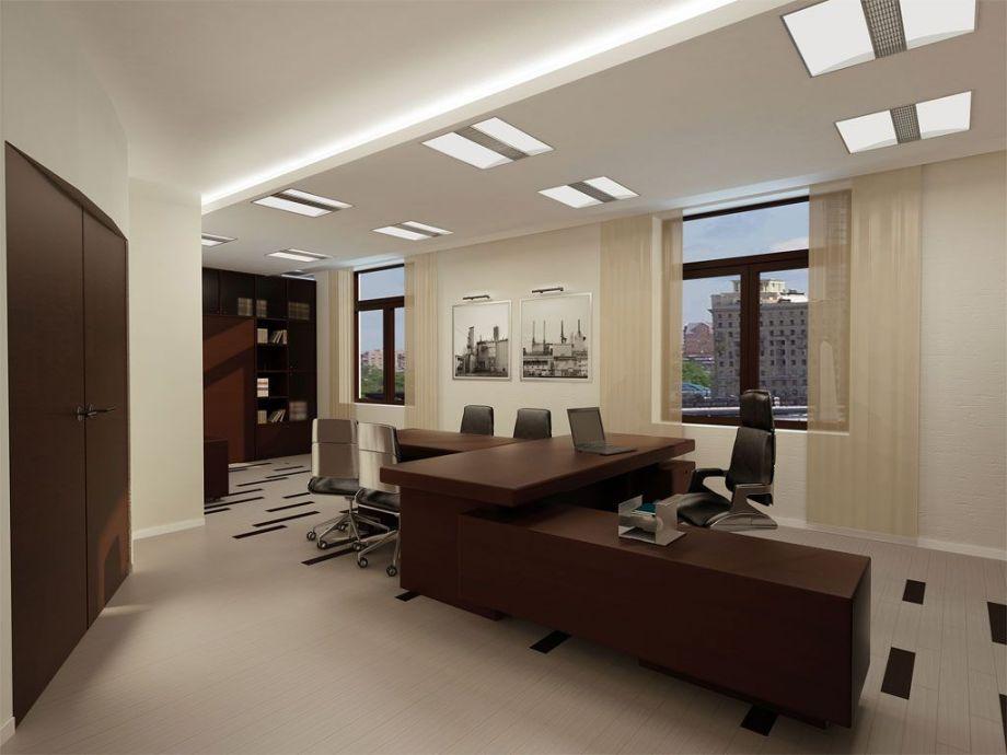 Натяжной потолок в офис