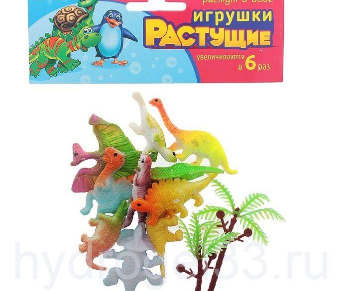 """Набор растущих игрушек """"Динозавры""""- 10шт"""