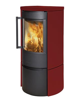 Отопительная печь WIKING Luma 4 в облицовке из керамики (Цвет Красный)